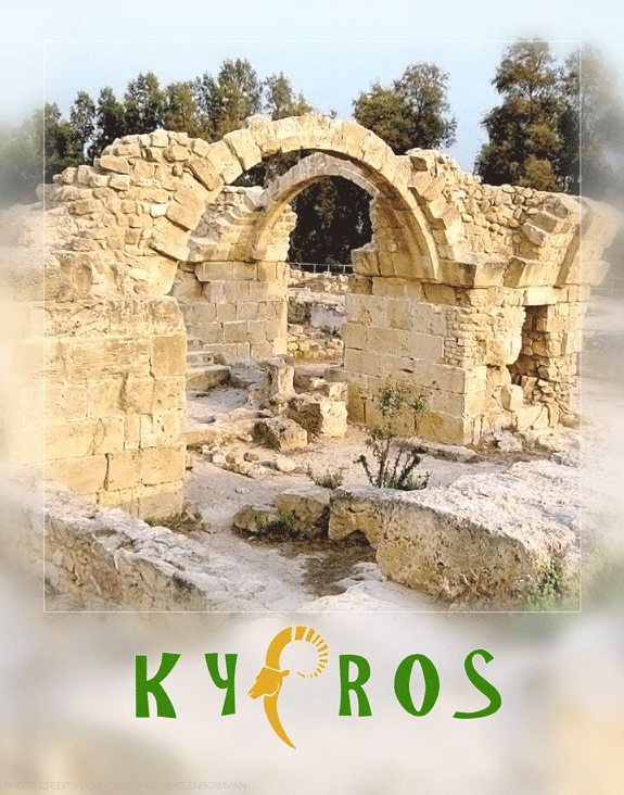 cyprus travel poster designed by shelli; photography by flickr user glenbowman used in accordance with creative commons licensing