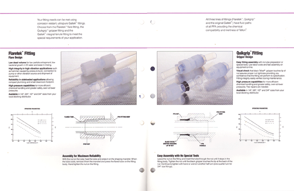 Product spec sheet interior spread designed by the good folks at mtouchettemedia.com