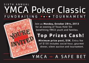 Y Poker Classic invitation postcard designed by the good folks at mtouchettemedia.com